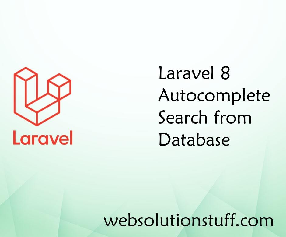 Laravel 8 Autocomplete Search from Database